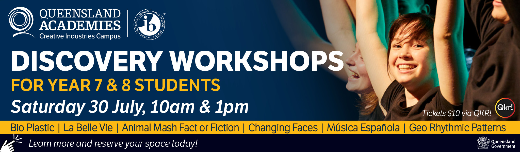 Queensland Academies are now acepting Principal's discretionary applications for Year 2021 Year 10 entry